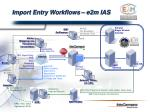 import entry workflows e2m ias