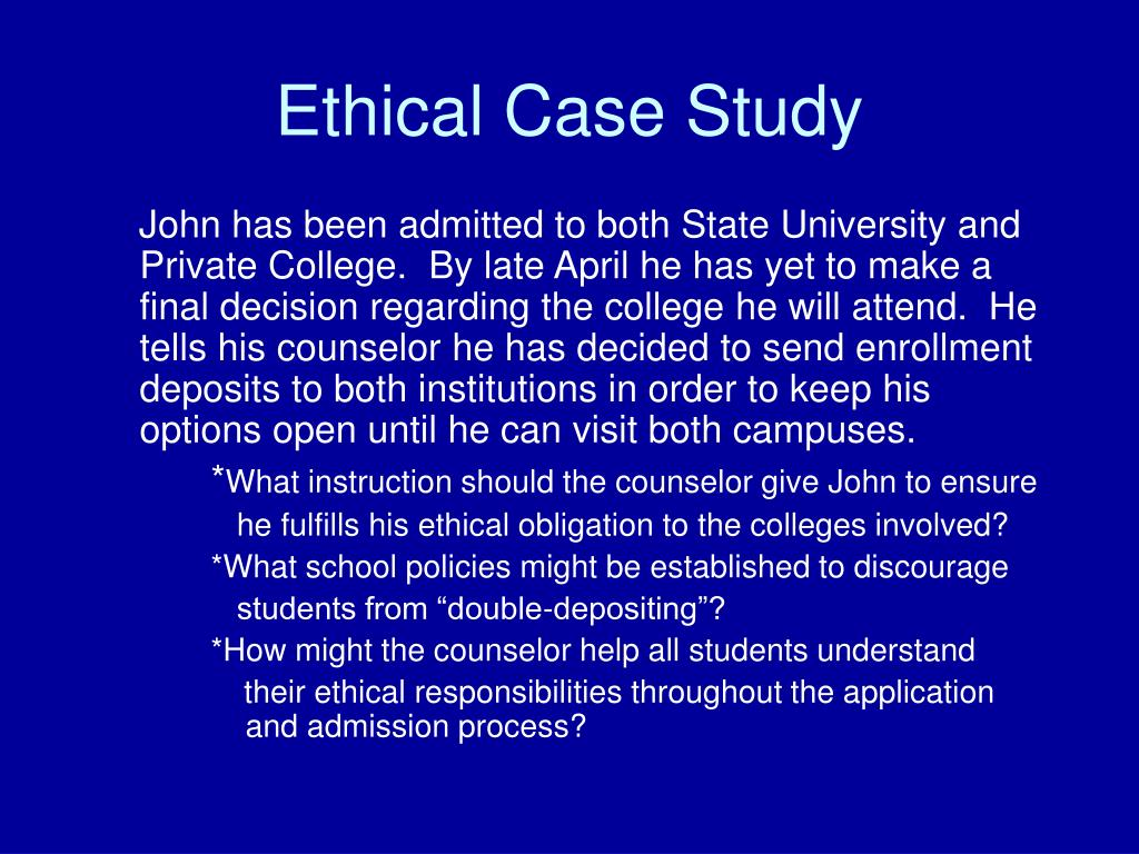 Ethics in college admissions
