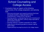 school counseling and college access10