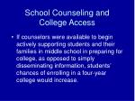 school counseling and college access8