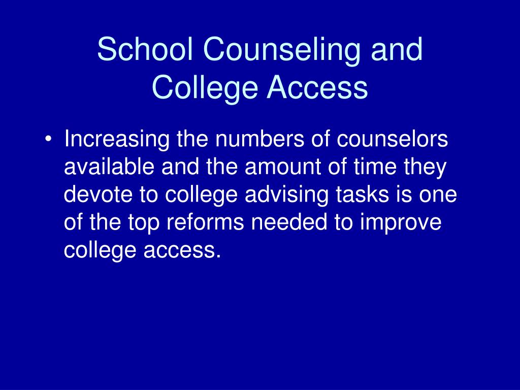 School Counseling and College Access