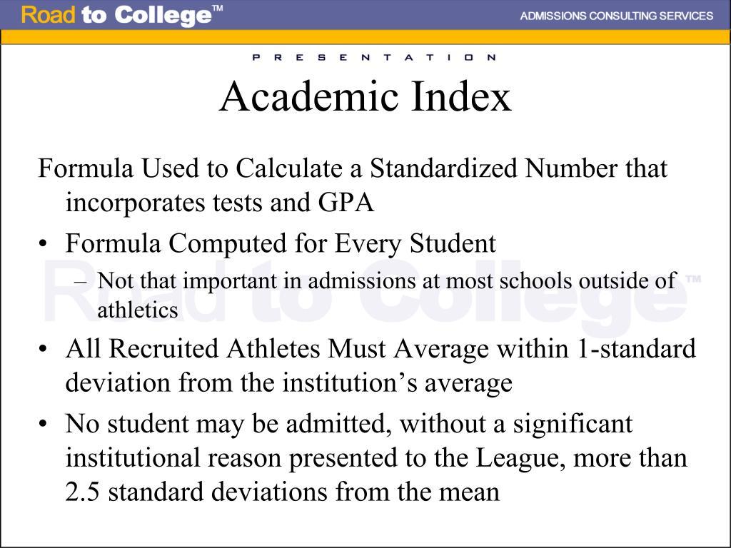 Academic Index
