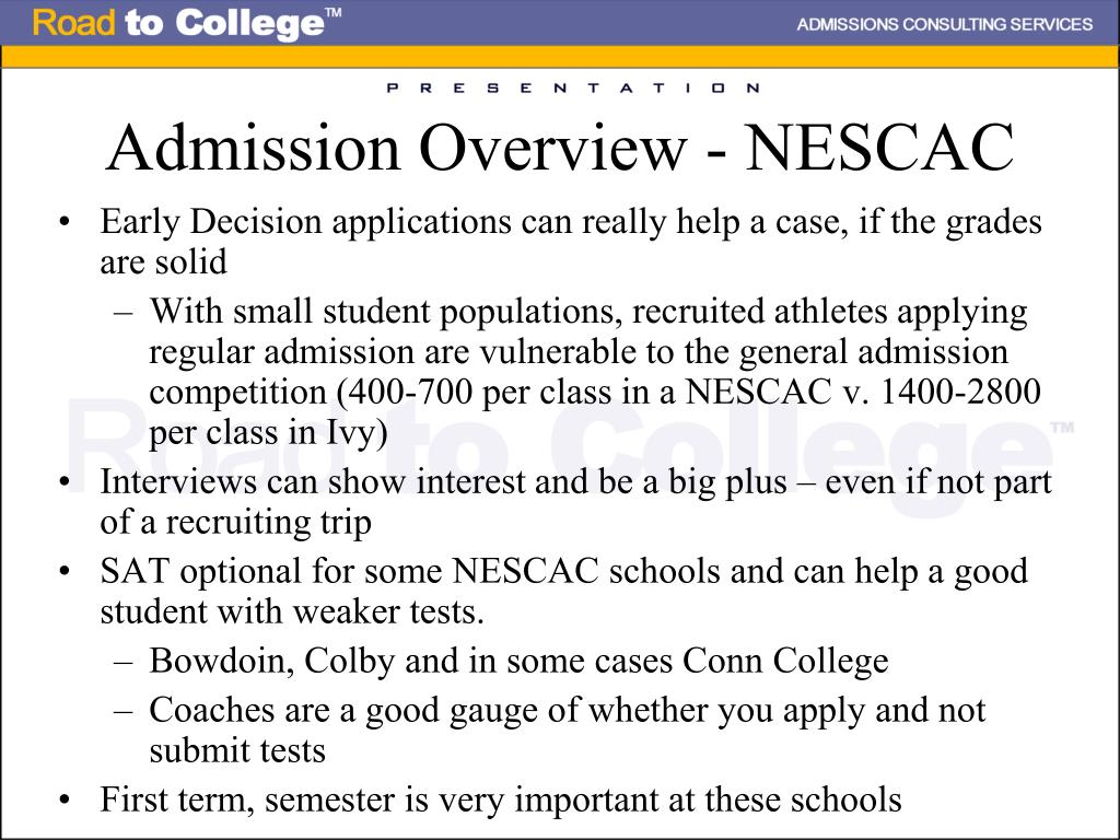 Admission Overview - NESCAC