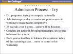 admission process ivy