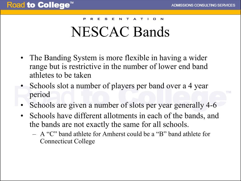 NESCAC Bands
