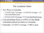 the academic index