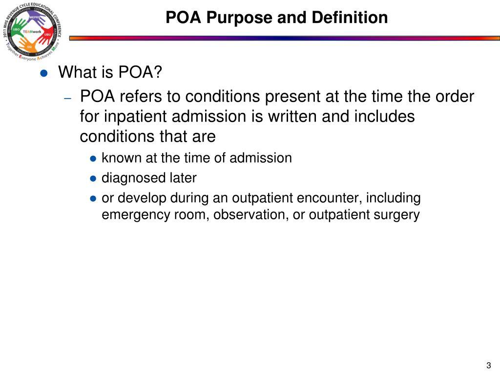 POA Purpose and Definition