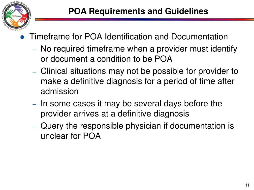 POA Requirements and Guidelines