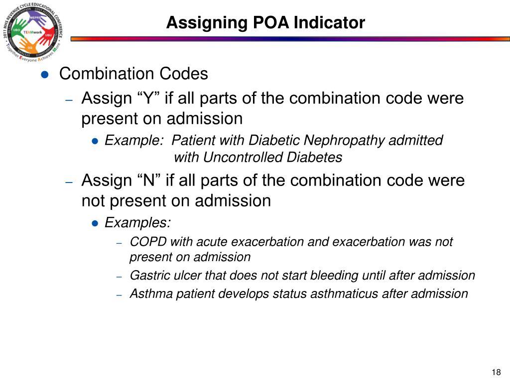 Assigning POA Indicator