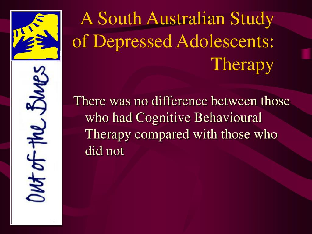 A South Australian Study of Depressed Adolescents: