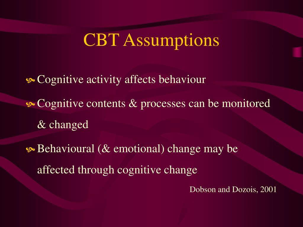 CBT Assumptions
