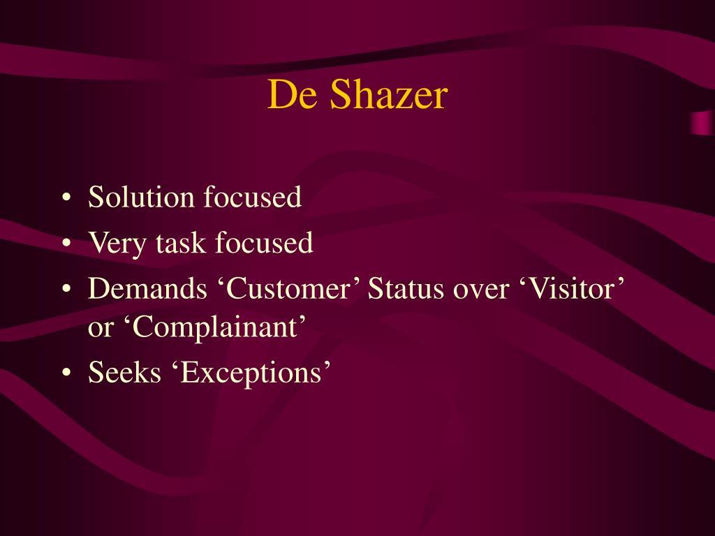 De Shazer