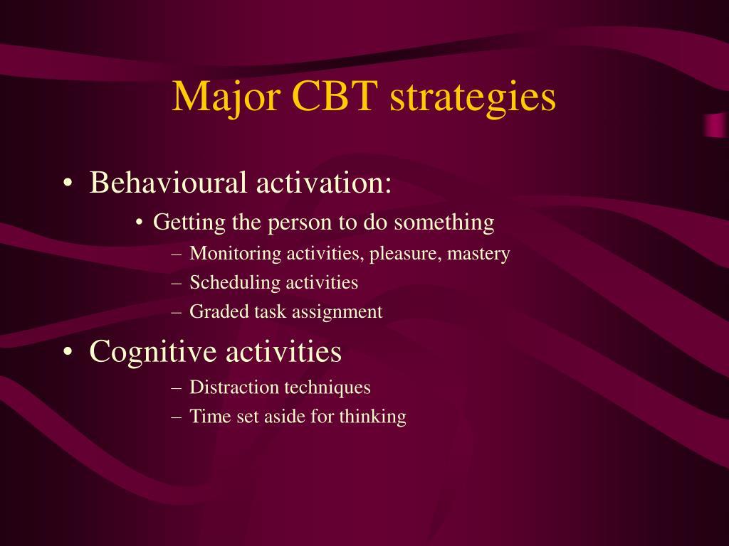 Major CBT strategies