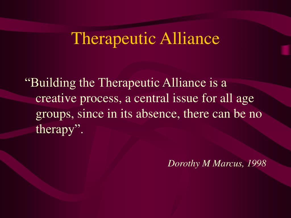 Therapeutic Alliance