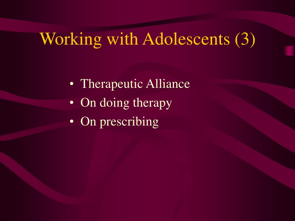 Working with Adolescents (3)