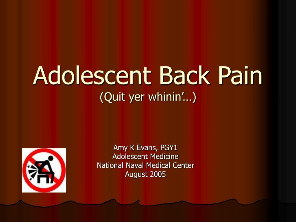 Adolescent Back Pain