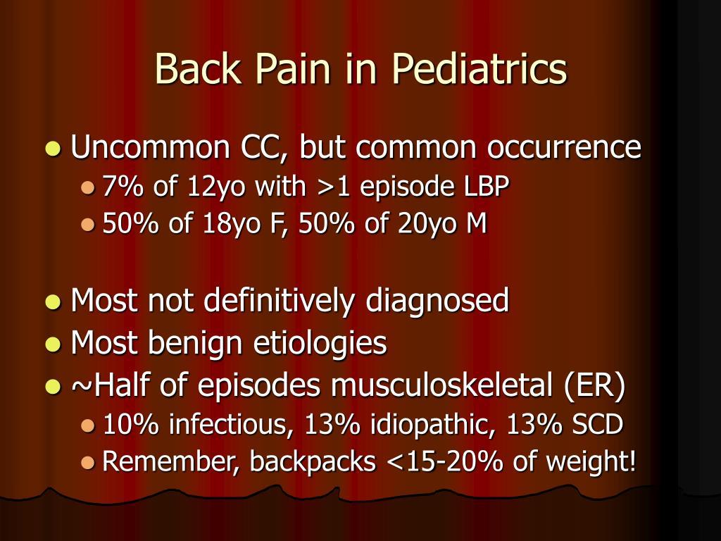 Back Pain in Pediatrics
