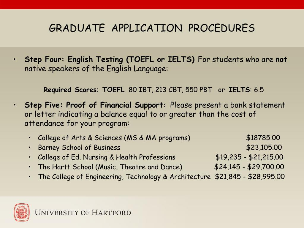 GRADUATE  APPLICATION  PROCEDURES