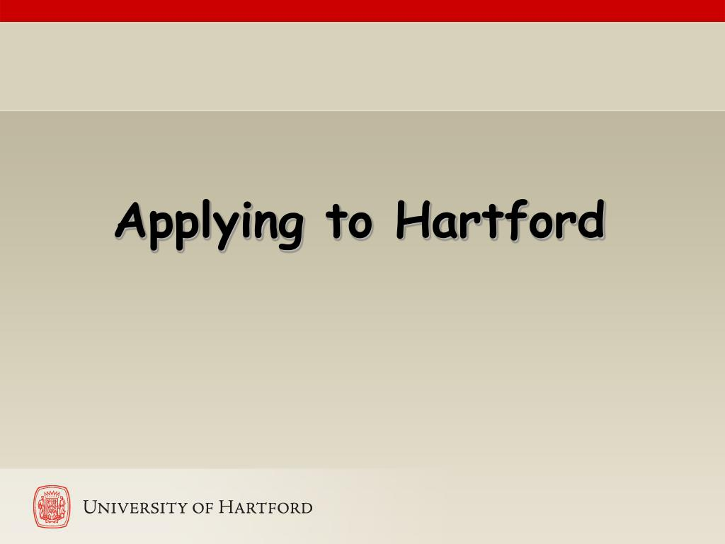 Applying to Hartford
