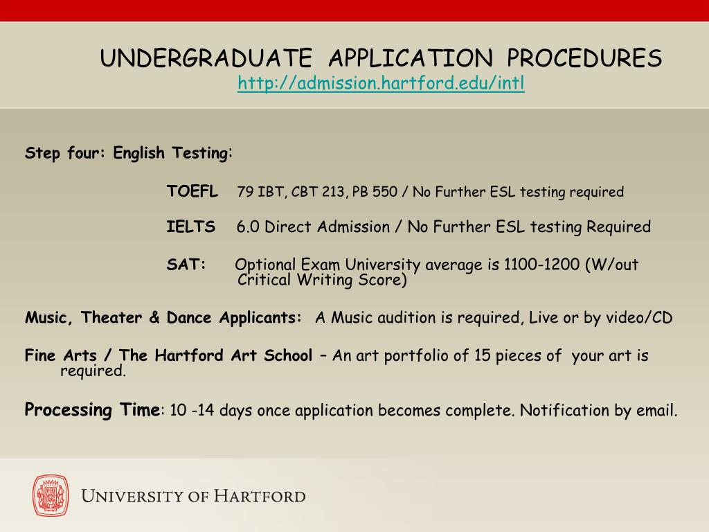 UNDERGRADUATE  APPLICATION  PROCEDURES