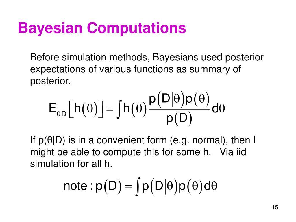 Bayesian Computations