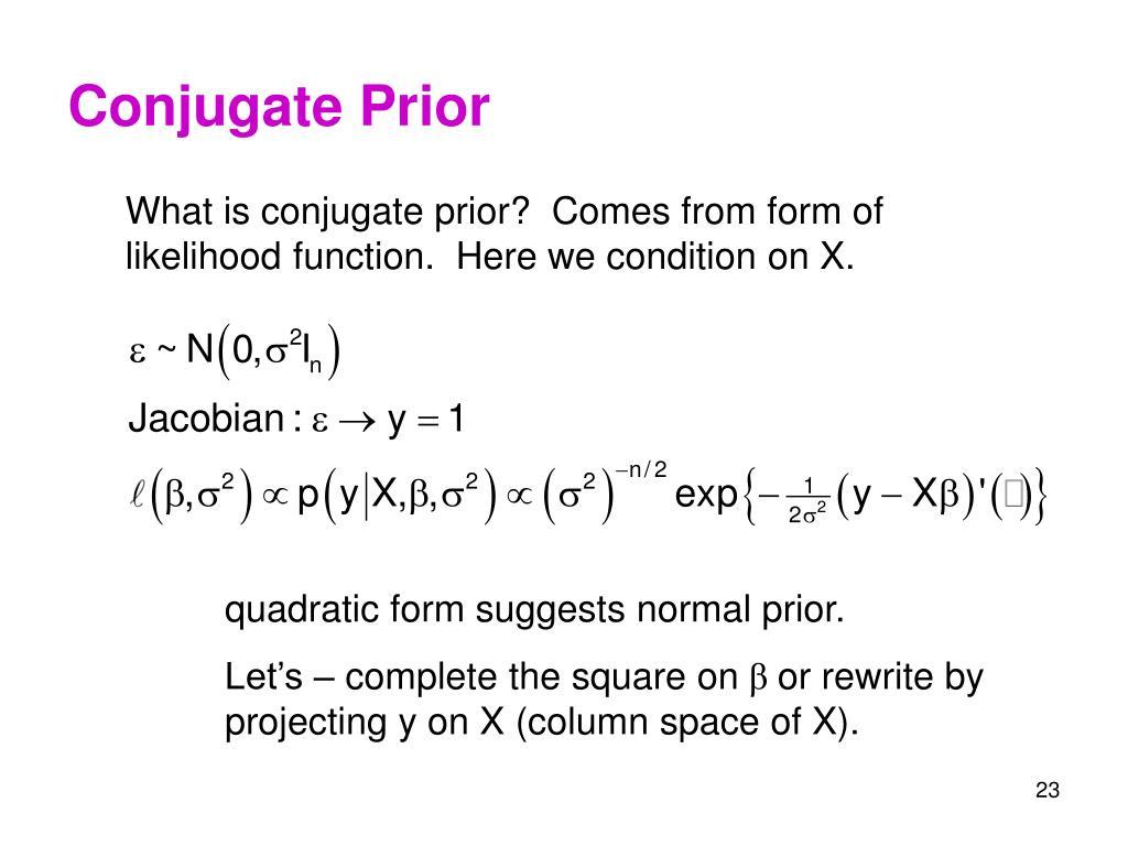 Conjugate Prior