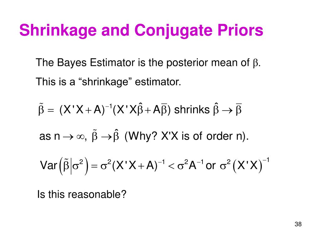 Shrinkage and Conjugate Priors