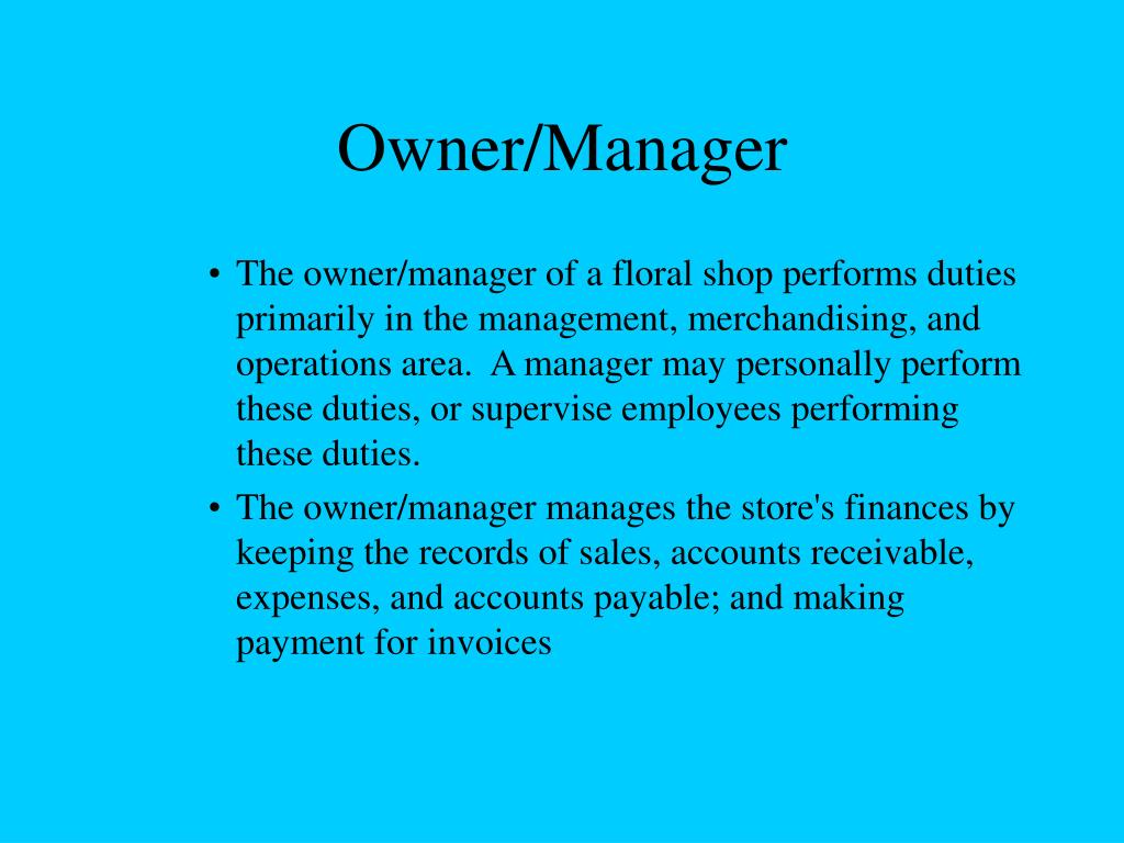 Owner/Manager