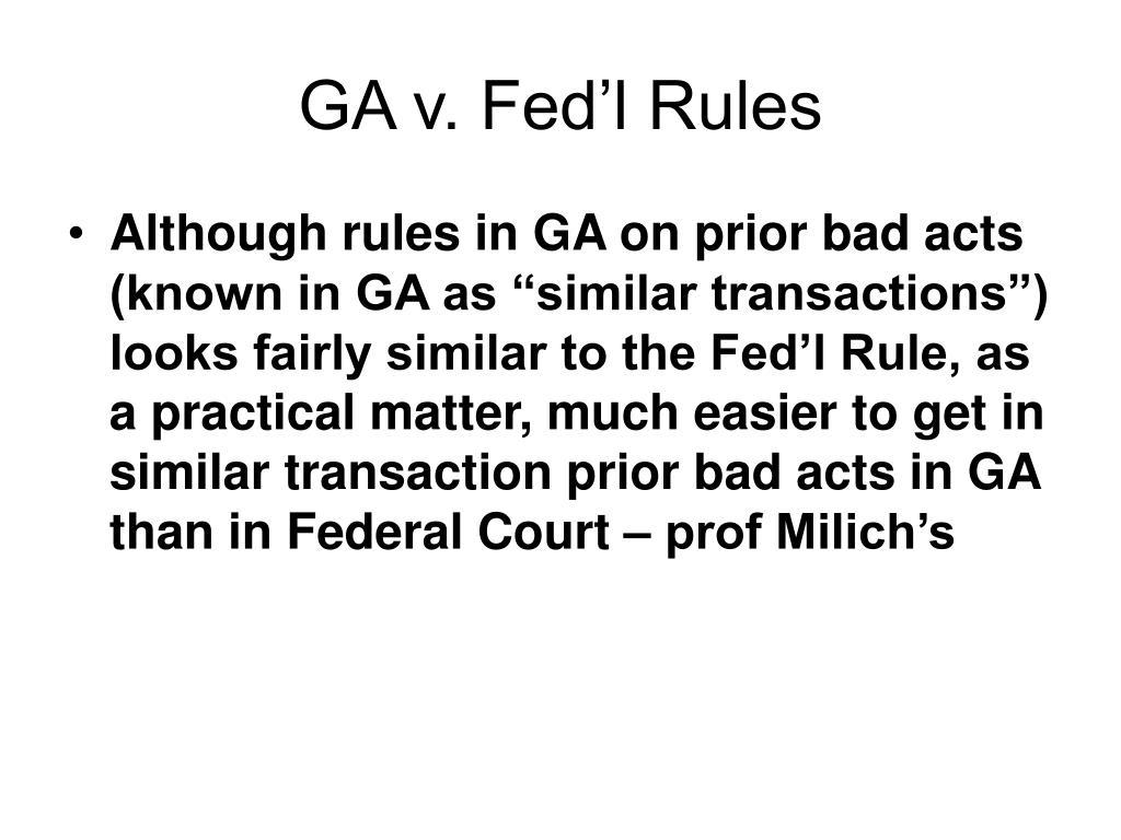 GA v. Fed'l Rules