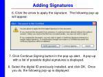 adding signatures37