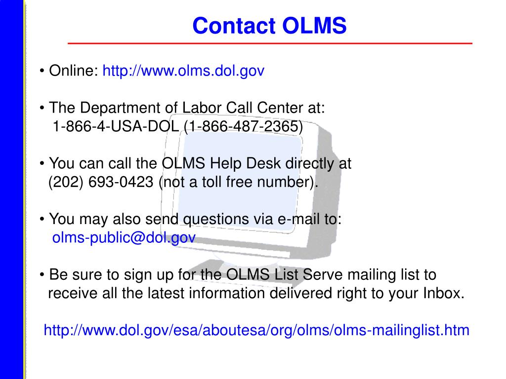 Contact OLMS