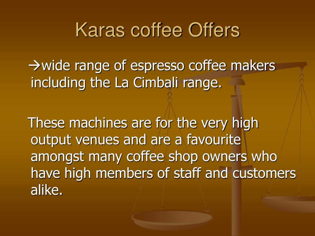 Karas coffee Offers