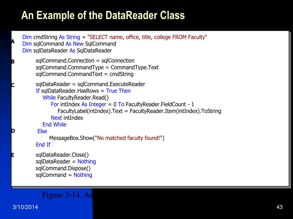 An Example of the DataReader Class