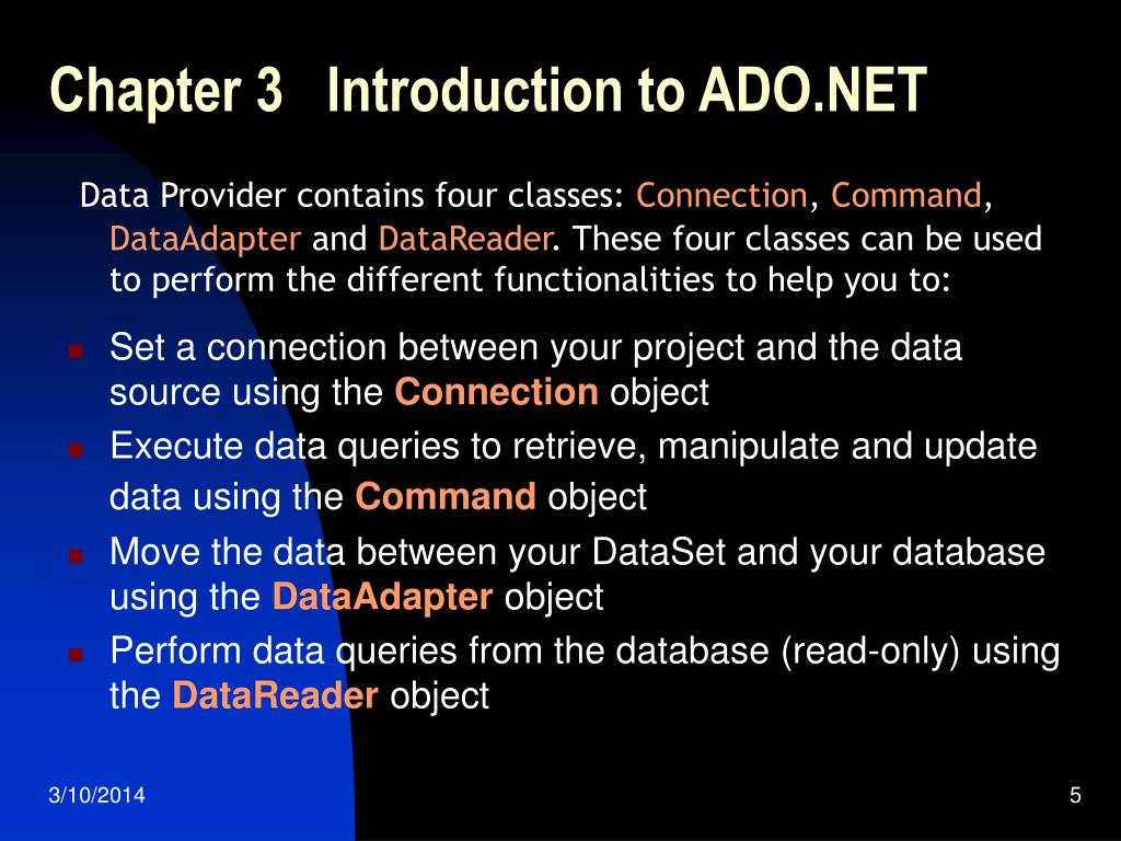 Chapter 3   Introduction to ADO.NET