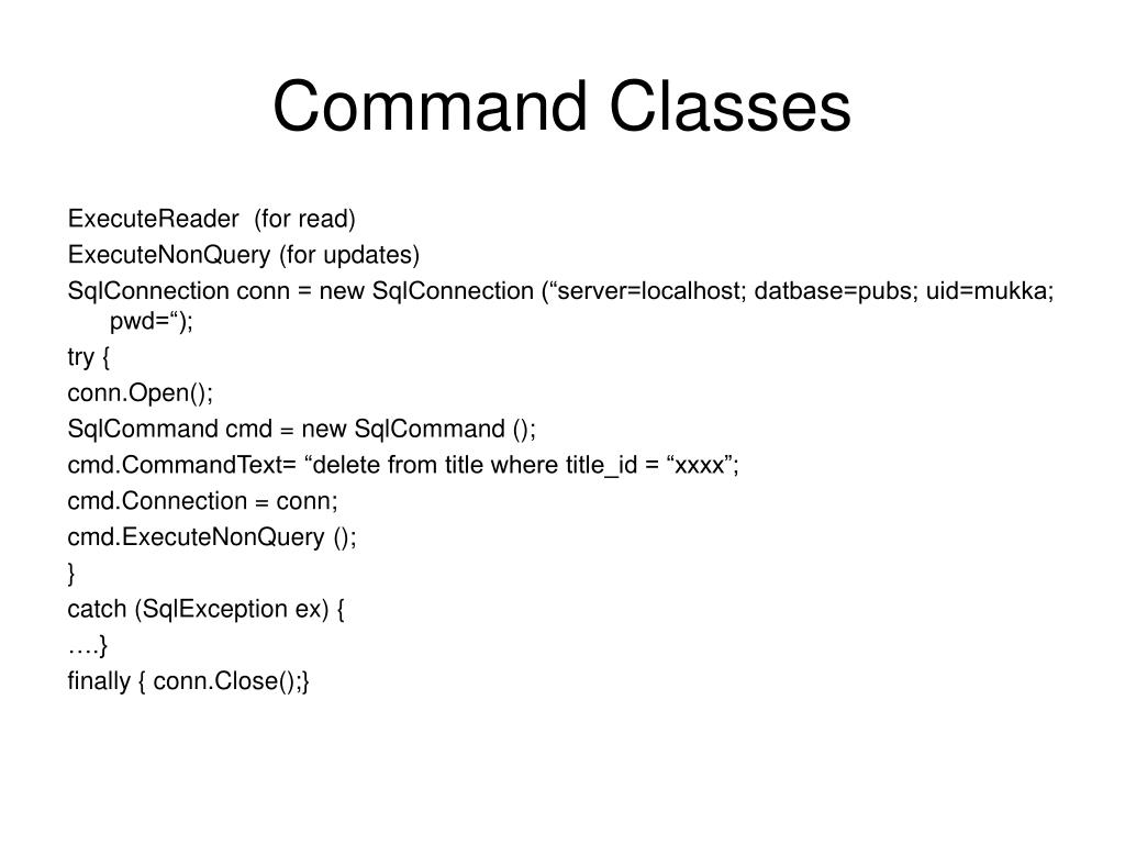 Command Classes