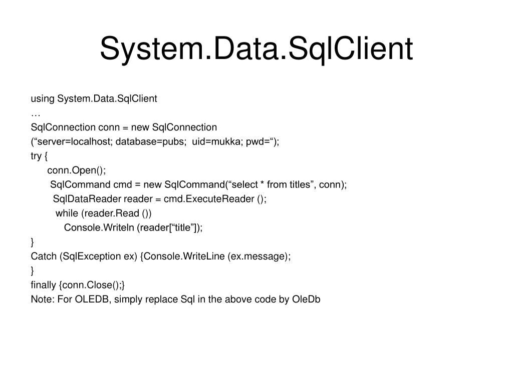 System.Data.SqlClient
