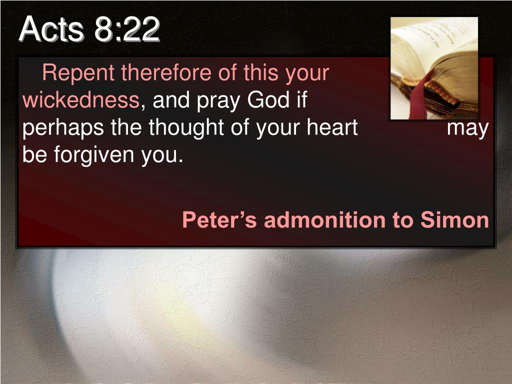 Acts 8:22
