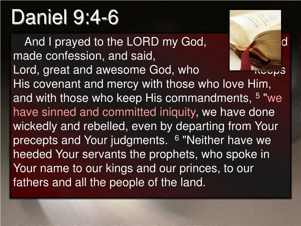 Daniel 9:4-6