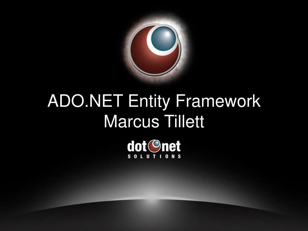 ado net entity framework marcus tillett
