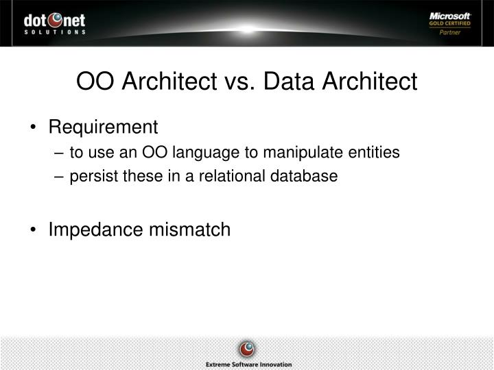 Oo architect vs data a rchitect