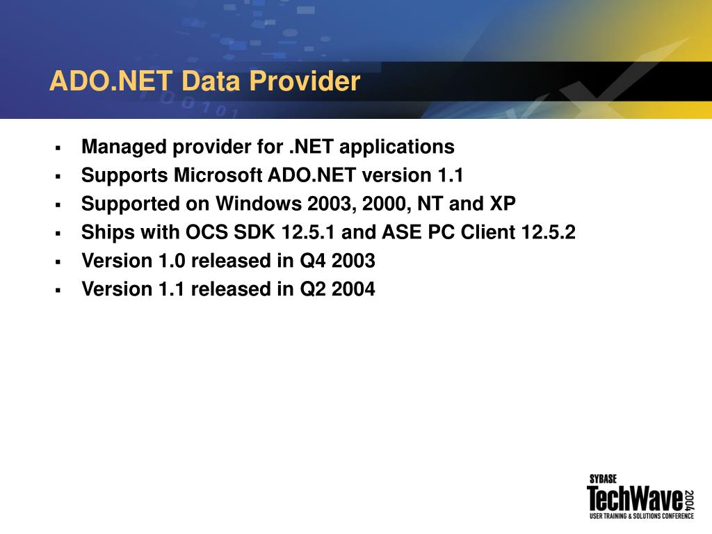 ADO.NET Data Provider