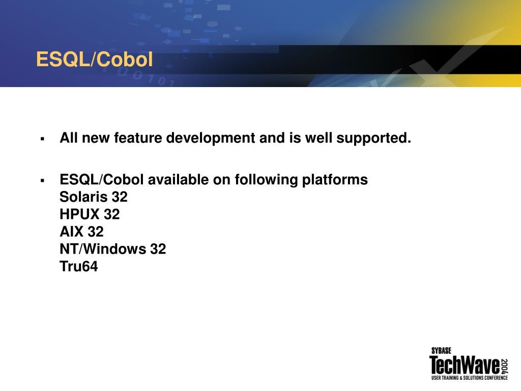 ESQL/Cobol
