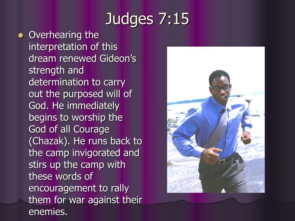 Judges 7:15