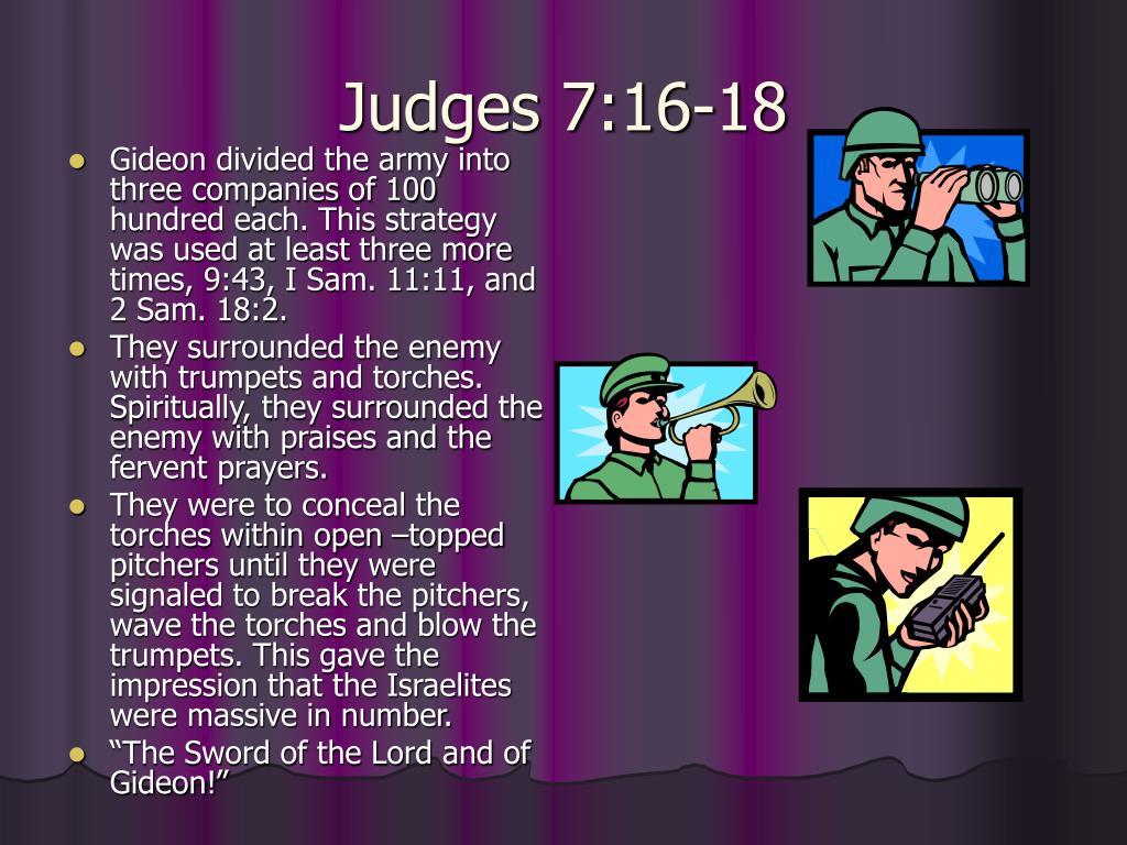 Judges 7:16-18