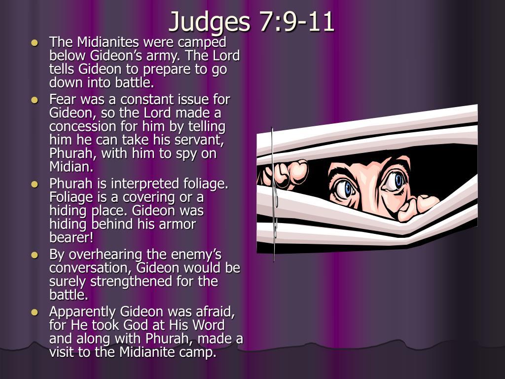 Judges 7:9-11