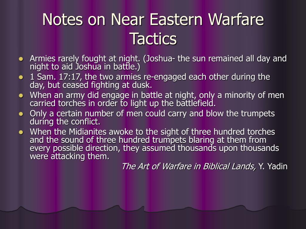 Notes on Near Eastern Warfare Tactics