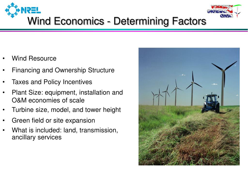 Wind Economics - Determining Factors