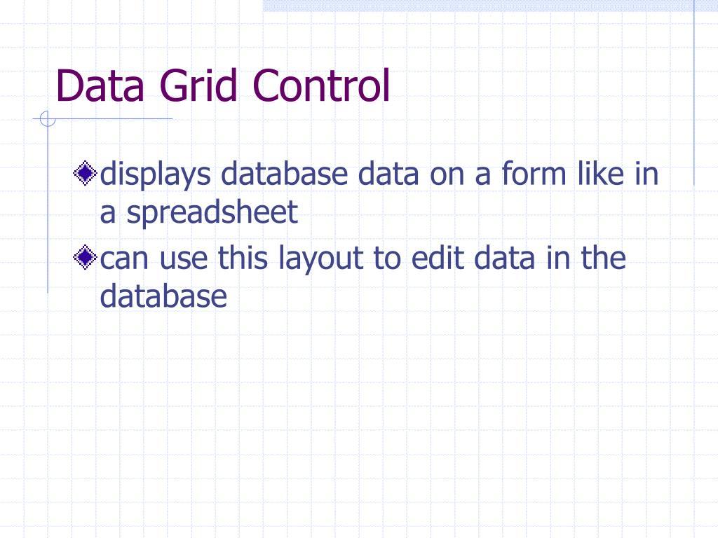 Data Grid Control