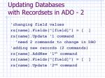 updating databases with recordsets in ado 2