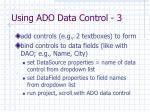 using ado data control 3